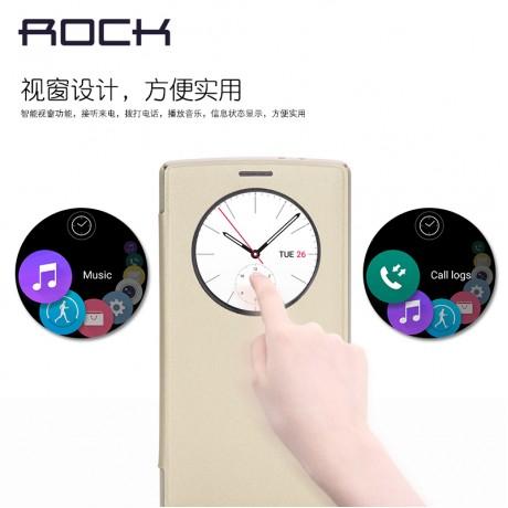 کیف چرم هوشمند LG G4  برند ROCK