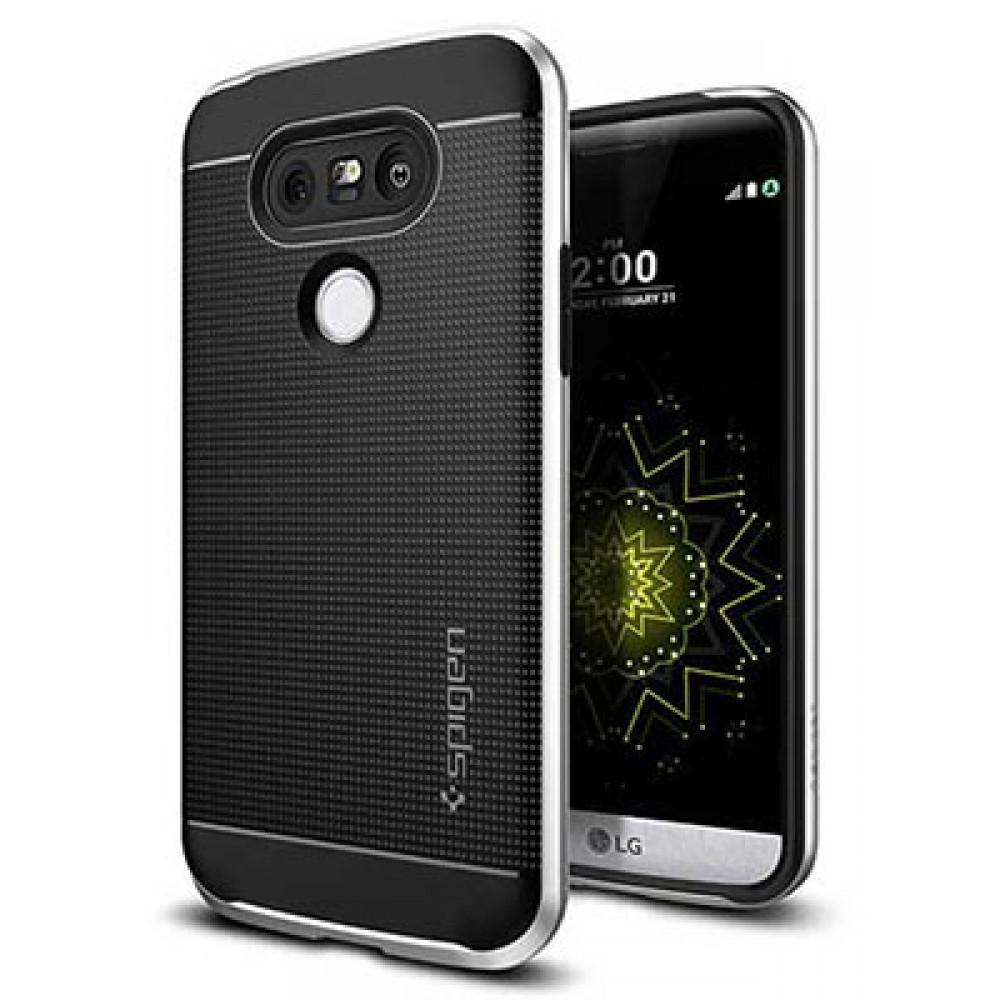 گارد ژله ای گوشی موبایل ال جی G5 برند اسپیگن مدل NEO HYBRID