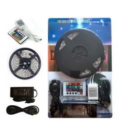 ریسه ال ای دی LED STRIP پنچ متری ریموت دار 16 رنگ SMD 5050